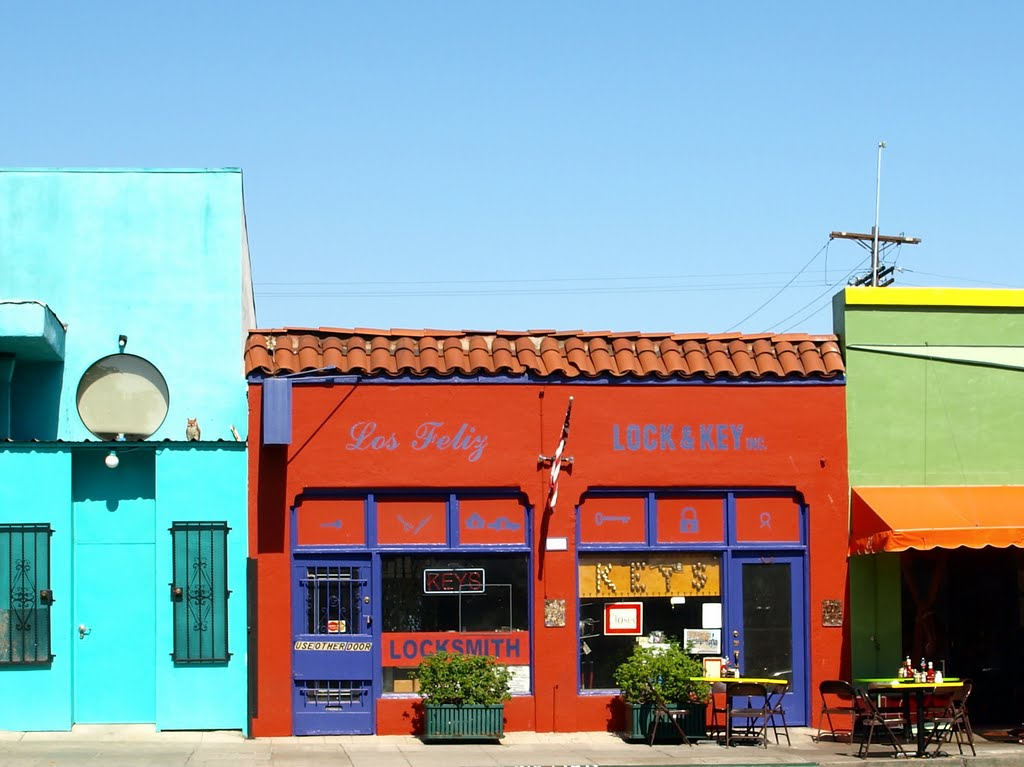Decoración colorida en Los Ángeles