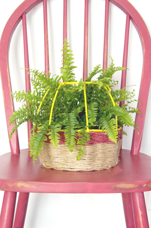 Convierte una l mpara en una cesta decoraci n online for Adornos casa online