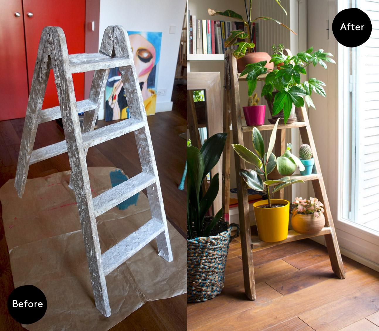 Escalera para plantas antes y despu s blog decoraci n y for Escaleras para decorar
