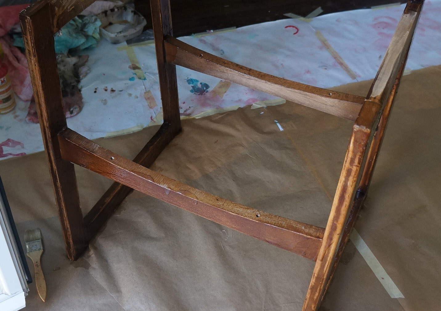 Silla del rastro renovada blog decoraci n y diy ideas para decorar tu casa diy decoraci n y - Decapar muebles barnizados ...