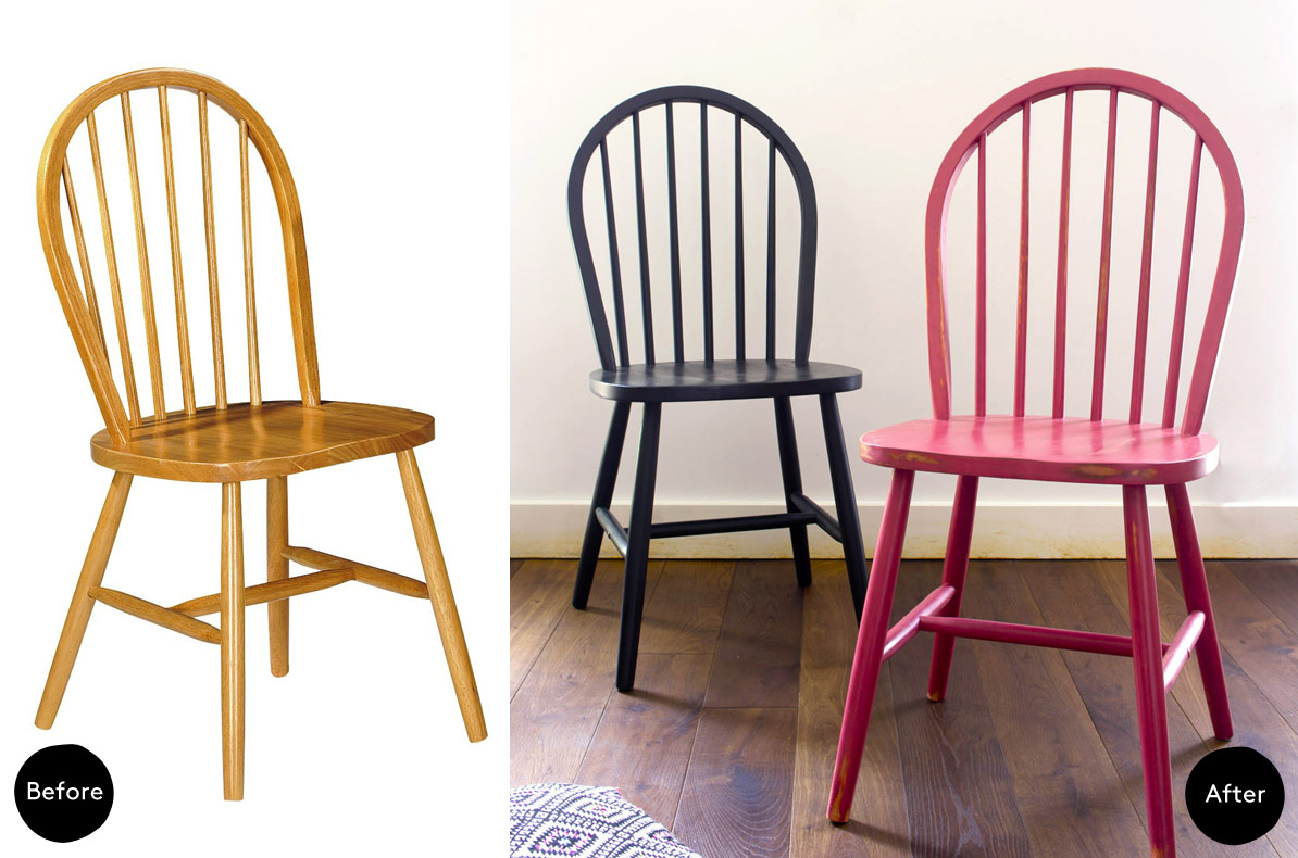 Renovar una silla con chalk paint blog decoraci n y diy for Almohadones para sillas windsor