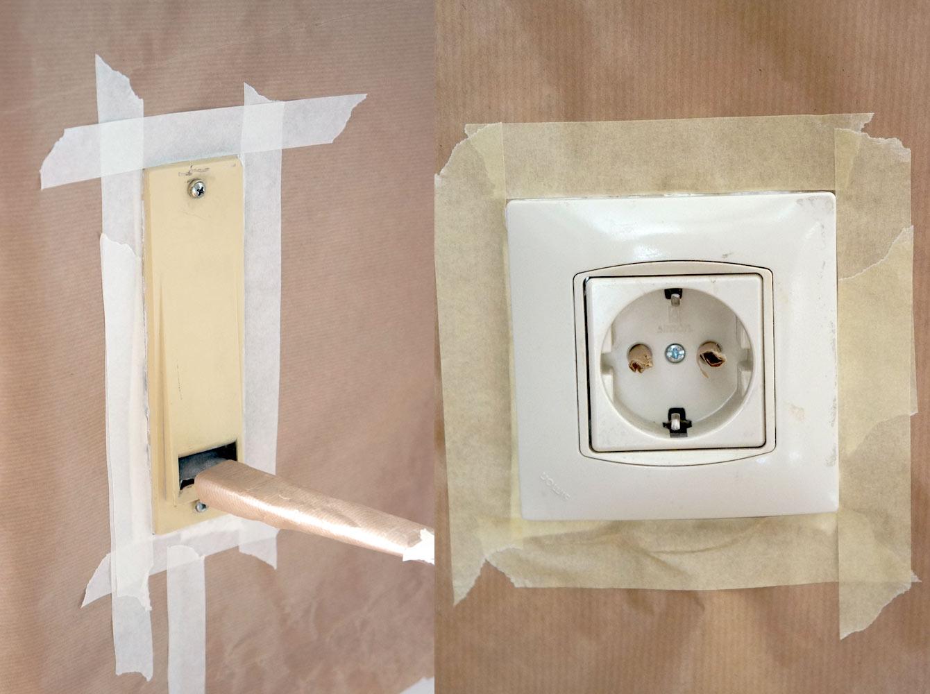 C mo pintar los enchufes e interruptores blog decoraci n - Enchufes e interruptores ...
