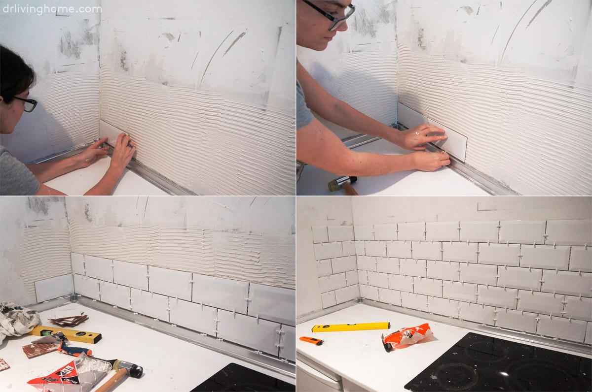 Renovar la cocina sin obras iii c mo alicatar sobre alicatado blog decoraci n y diy ideas - Alicatar encima de azulejos ...