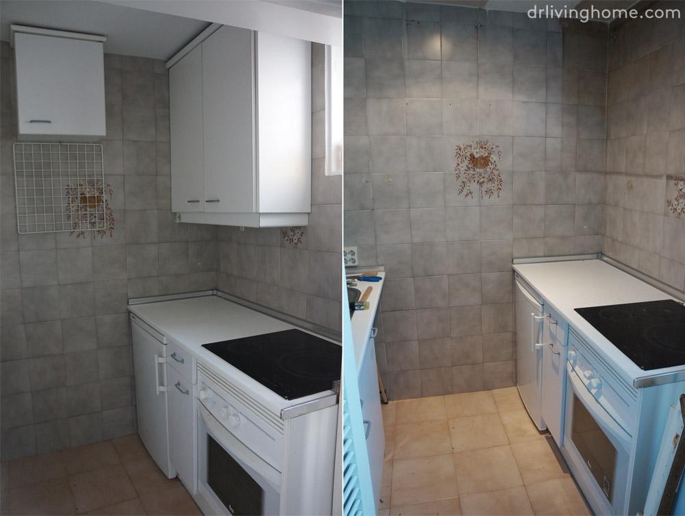 Renovar la cocina sin obras ii c mo tapar azulejos paso a - Cambiar suelo cocina sin quitar muebles ...