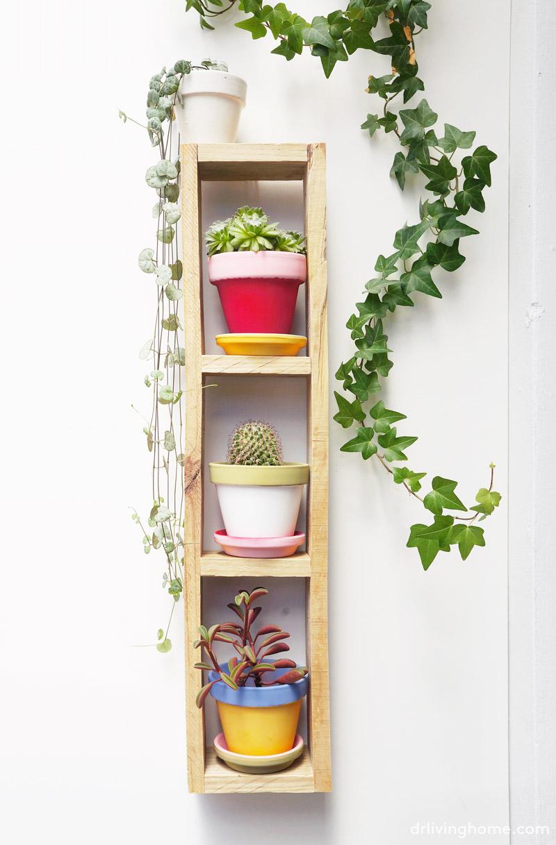 Diy jard n vertical mini en 4 pasos decoraci n online for Como se construye un jardin vertical