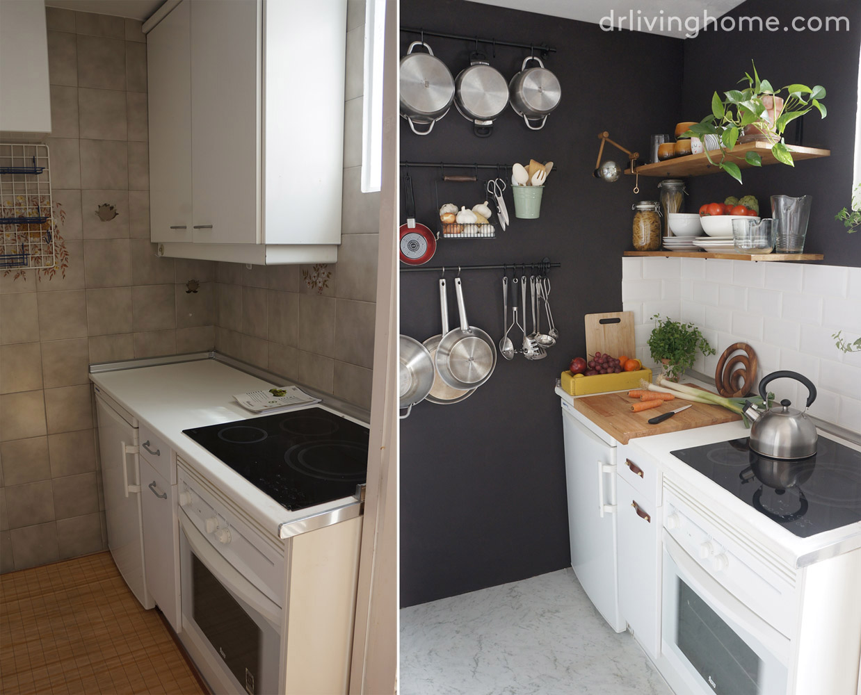 C mo ordenar una cocina peque a para aprovechar el espacio for Como aprovechar una cocina pequena