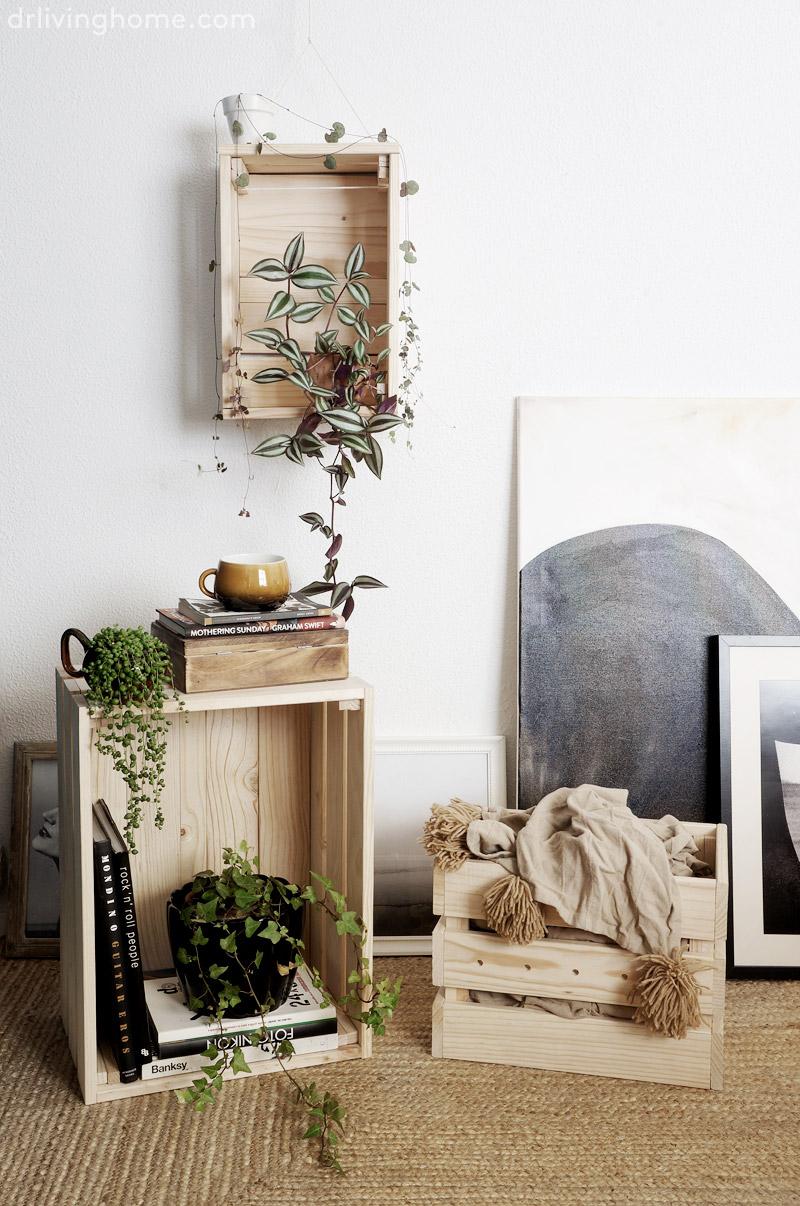 Diy caja de madera transformada sorteo decoraci n for Decorar online