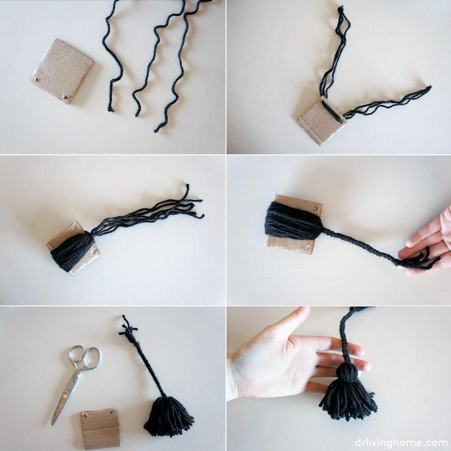 Manta diy c mo hacer borlas trenzadas blog decoraci n y for Borlas para muebles
