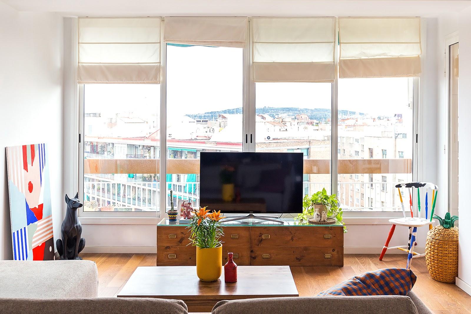 Decoración llena de vida en Barcelona
