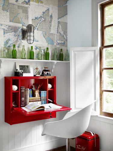 MEGAPOST 50 ideas geniales para decorar un piso pequeño u00b7 Blog decoración y diy, ideas para  -> Decorar Un Escritorio Pequeño