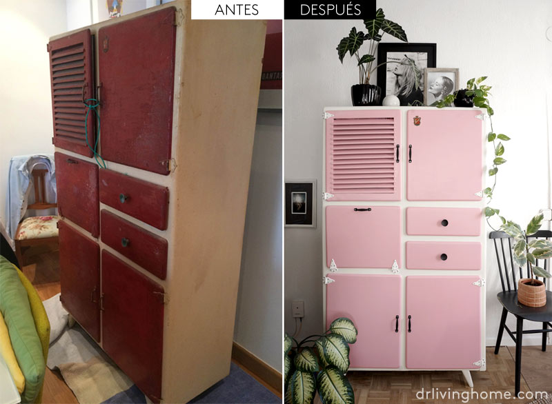 Antes y despu s de una alacena de cocina vintage blog for Ideas para restaurar muebles